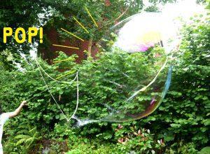 Giant Bubbles Pop